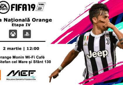 Înscrie-te la FIFA19 Liga Națională Orange (Etapa IV)